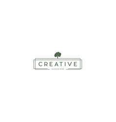 Wooden tree creative business logo design graphic vector