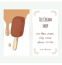 Business card template with hand drawn chocolate vector image vector image