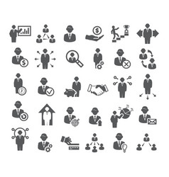 Business icons management finance and marketing vector