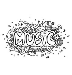 music vector image vector image