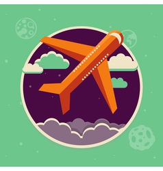 plane flight vector image vector image