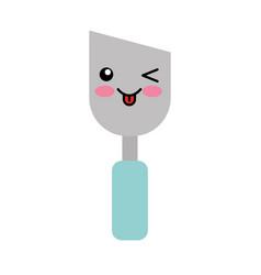 spatula of construction kawaii character vector image