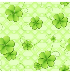 Clover leaves pattern vector image vector image
