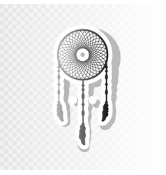 dream catcher sign new year blackish icon vector image vector image