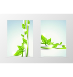 Front and back wave natural flyer template design vector image