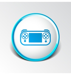 game controls Video games Silhouettes vector image