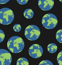 Globe seamless pattern Globes of earth background vector image