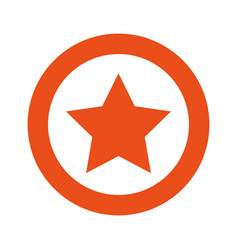 orange symbol star icon vector image vector image