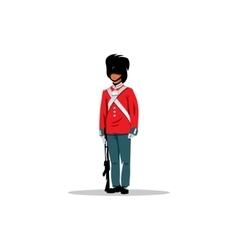 Royal British guardsman sign vector image vector image