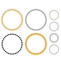 Circle template sticker vector image vector image