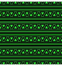 Triangle aztec green neon background vector