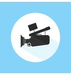 Video Camera Footage Cinema Icon Pro Silhouette vector image