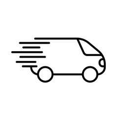 fast shipping icon delivery truck simbol flat vector image