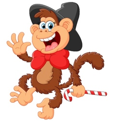 Funny monkey vector image vector image