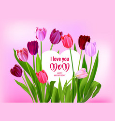 holiday mothers day pink vector image