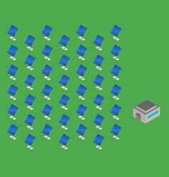 solar energy station isometric vector image