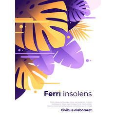 abstract tropical background brochure vector image