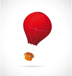 Air balloon cartoon vector