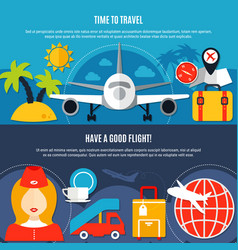 air travel 2 flat airlines banners vector image