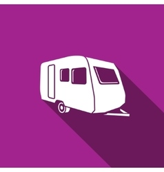 Auto trailers icon vector