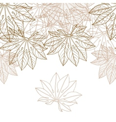 Autumn braun leaves background vector image