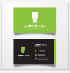 Award icon business card template vector
