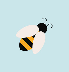 bee icon flat style simple design vector image