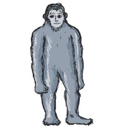 bigfoot vector image