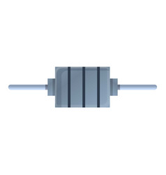 Bipolar capacitor icon cartoon style vector
