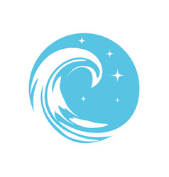 blue wave vector image