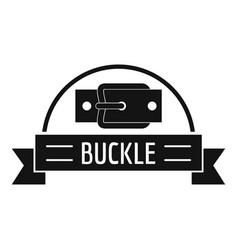 Buckle element logo simple black style vector