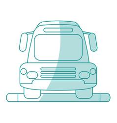 Bus shadow vector