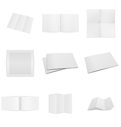 Business paper empty Mockups Set vector image