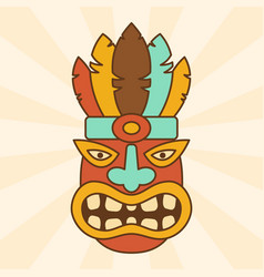 cartoon ethnic mask vector image