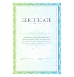 Certificate pattern vector