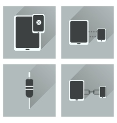 Concept of flat icons with long shadow Gadgets vector