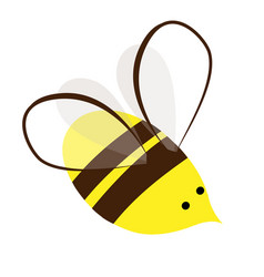 Cute and busy honey bee logo or icon vector