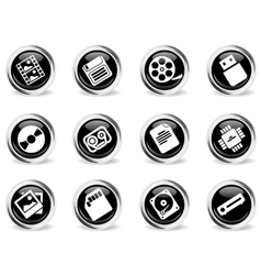 Data analytic simply icons vector image