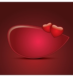 Design templates with hearts vector image vector image