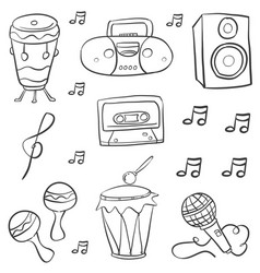 Doodle of music style hand draw vector