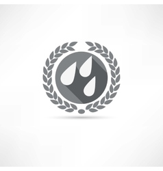 drops icon vector image
