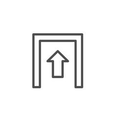 entrance line outline modern icon vector image