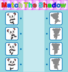 Find the correct shadow of the panda vector