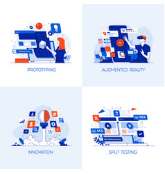 flat designed conceptual icons 3 vector image