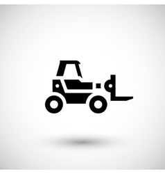 Forklift telescopic loader icon vector