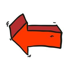 Freehand drawn cartoon arrow vector