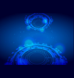 futuristic interface hud techno circle abstract vector image