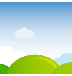 Green meadow nature background vector