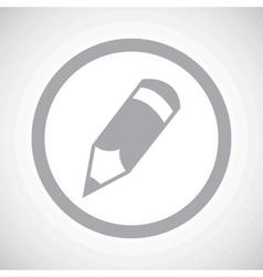 Grey pencil sign icon vector