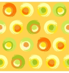 Grunge multicoloured circles vector image